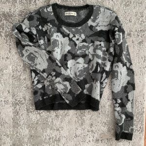 Abercrombie & Fitch Floral Wool Sweater